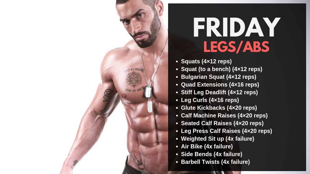 Lazar Angelov Workout Routine - Friday