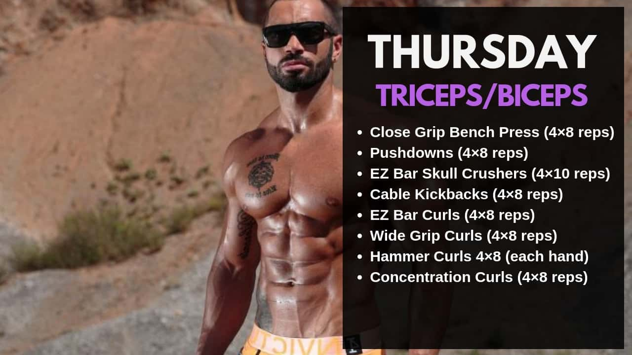 Lazar Angelov Workout Routine - Thursday