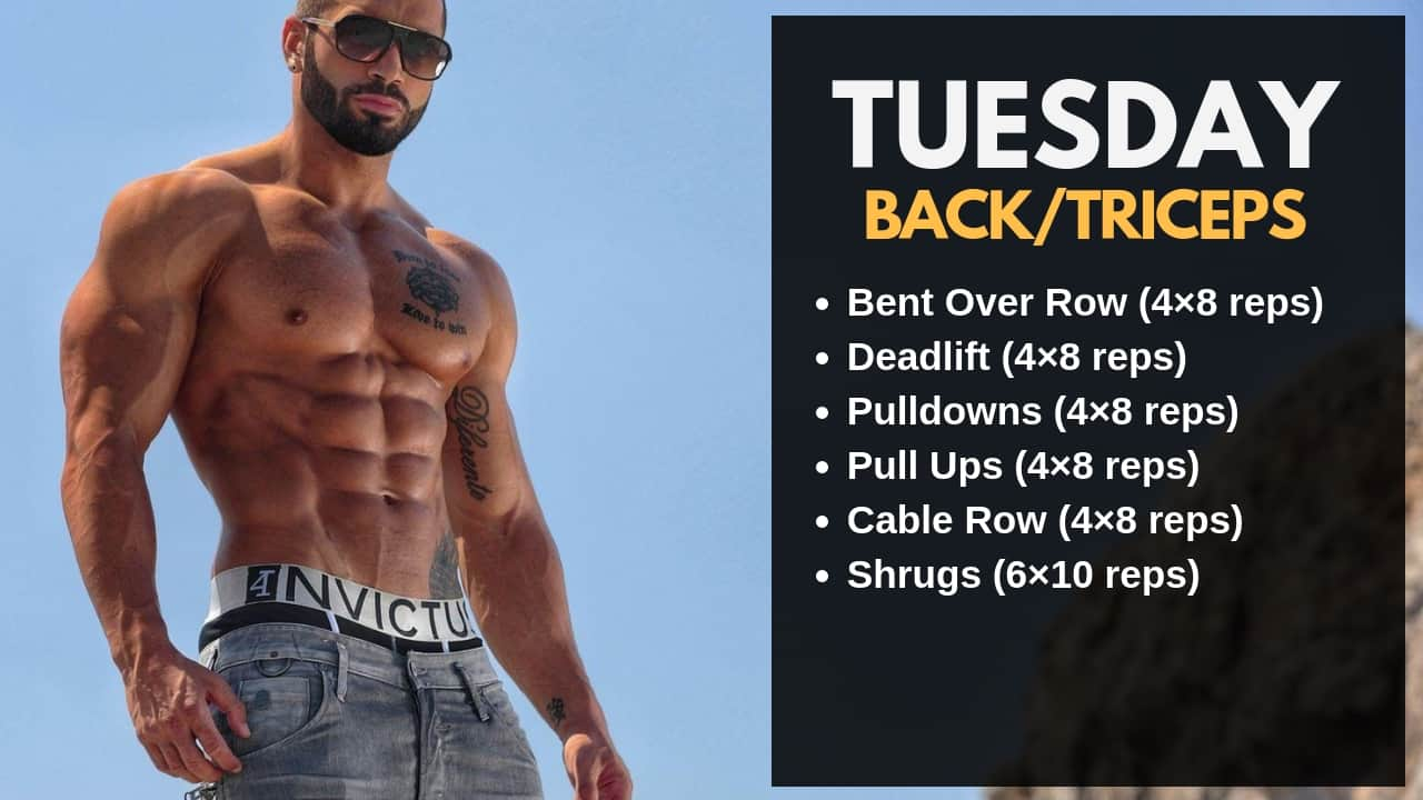 Lazar Angelov Workout Routine - Tuesday