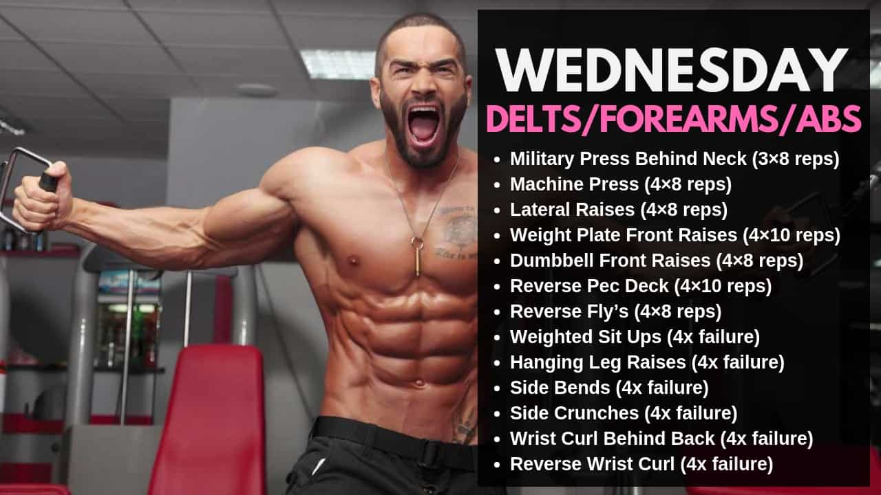Lazar Angelov Workout Routine - Wednesday