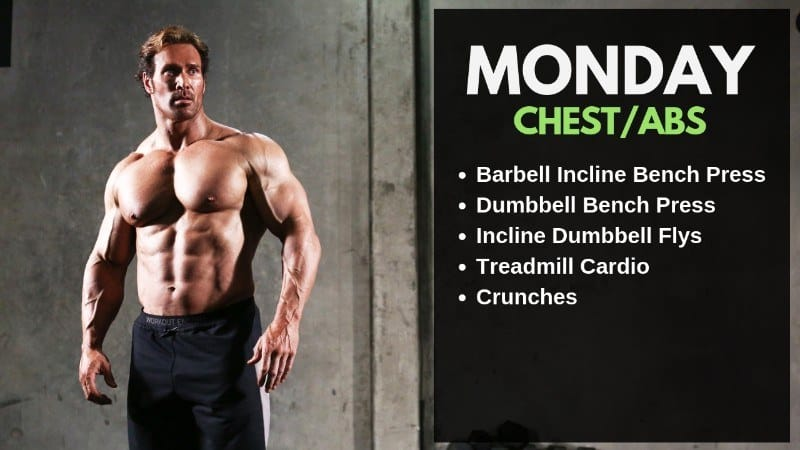 Mike O' Hearn Workout Routine - Monday