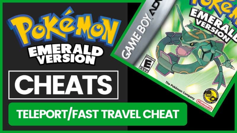 Pokemon Emerald Cheats - Teleport - Fast Travel Cheat