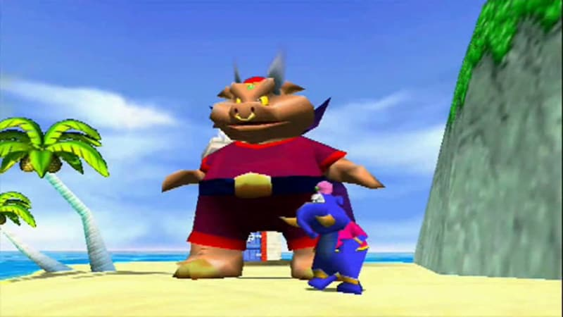 Toughest Video Game Bosses - Wizpig - Diddy Kong Racing