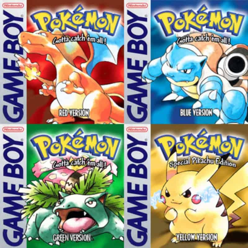 Most Popular Nintendo Games - Pokemon Red:Blue:Yellow:Green
