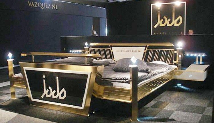 Most Expensive Beds - Jado Steel Style Gold Bed – $676,550