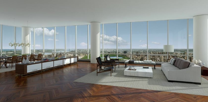 Most Expensive Penthouses - One57 Penthouse, New York – $90 Million